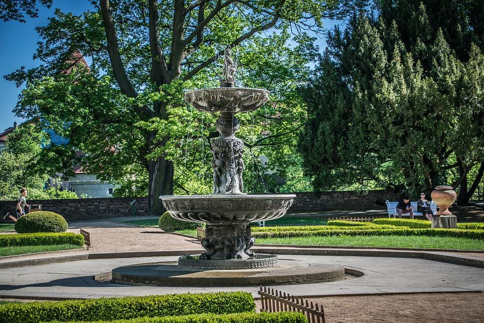 fontána na pražském hradě